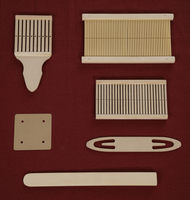 Image Band Weaving, Wood-Heddles, Band Clamp
