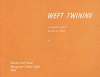 Image Weft Twining-Shuttle Craft Monograph 28